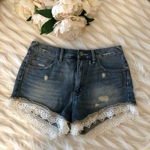 Free People Shorts - Free People Jean Shorts with Lace Size 27